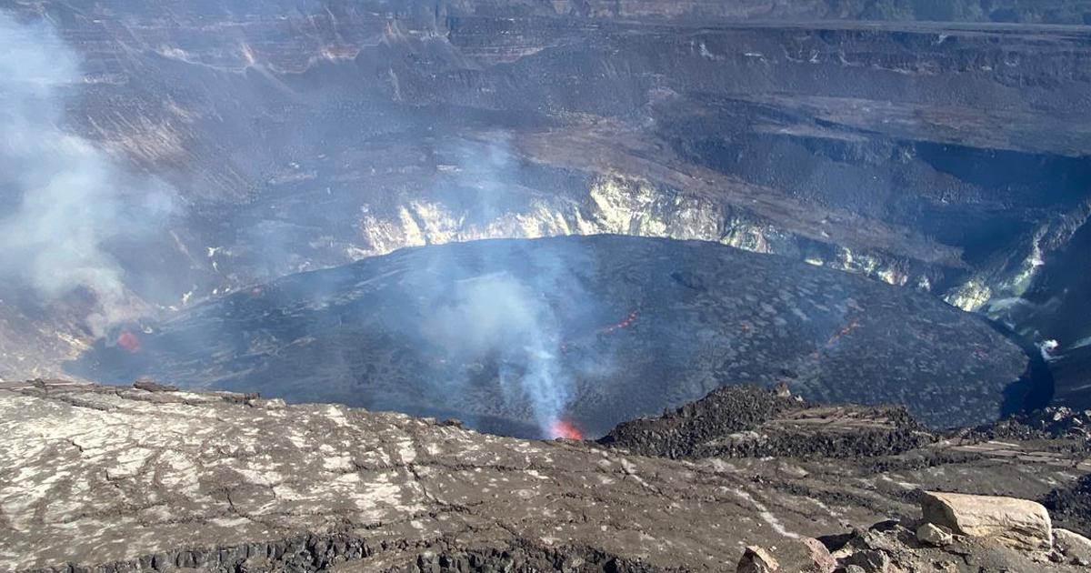 Kilauea eruption crater