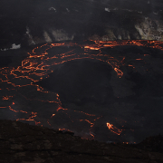 Kilauea eruption at night